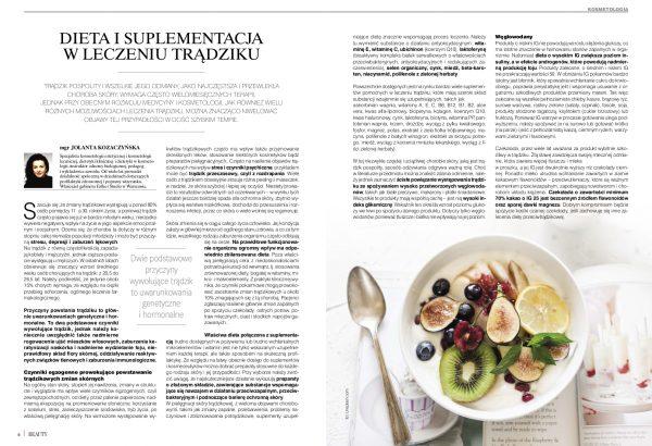 Dieta i suplementacja w leczeniu trądziku