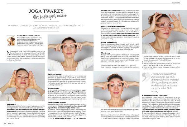 art of BEAUTY wydanie 01/2021 joga twarzy